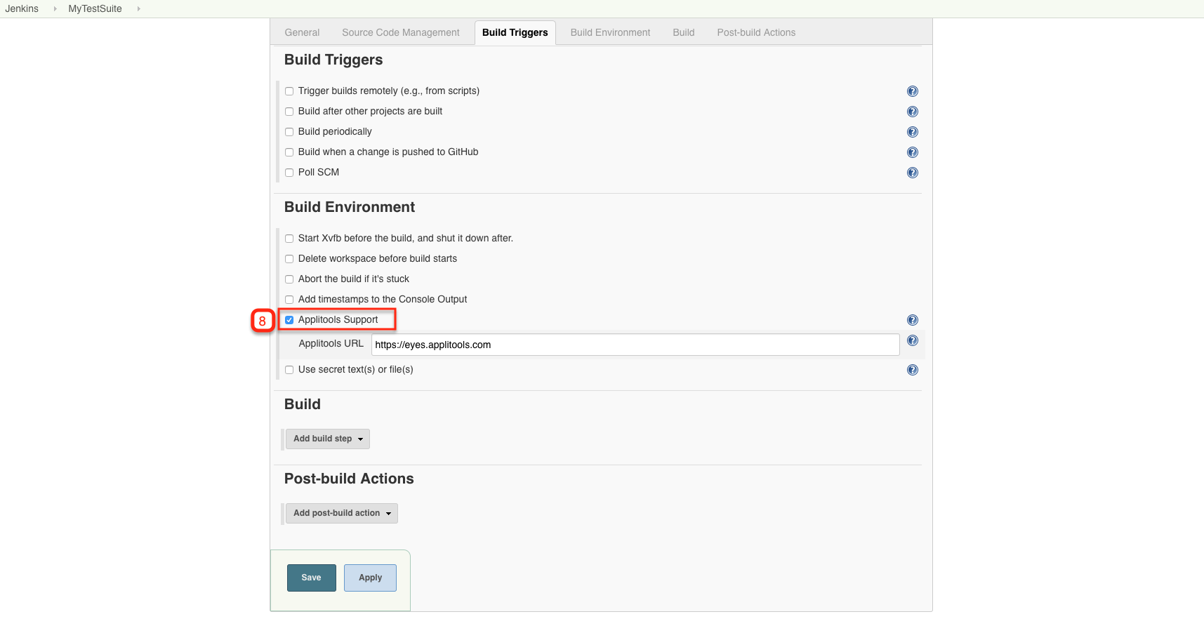 Integration with the Jenkins plugin – Applitools